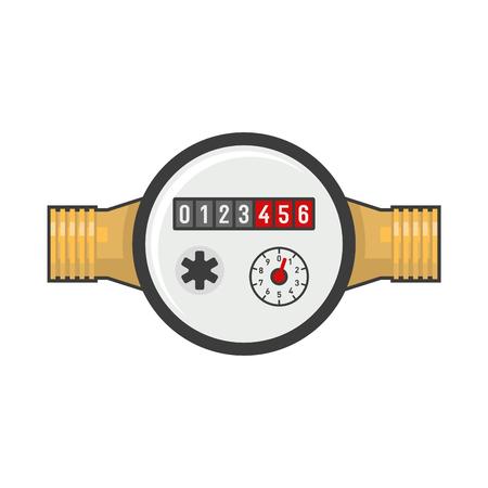 economize: Water Meter Icon.
