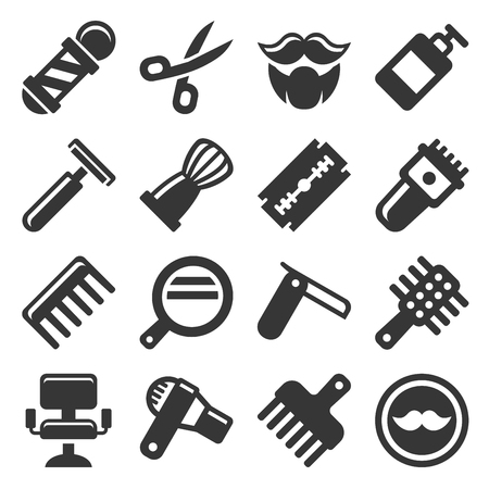 trim: Barber Shop Icons Set