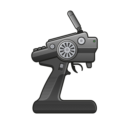 RC Car Radio Control pictogram op witte achtergrond. vector