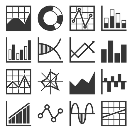 Analytics and Finance Icon Set. Vector Illustration