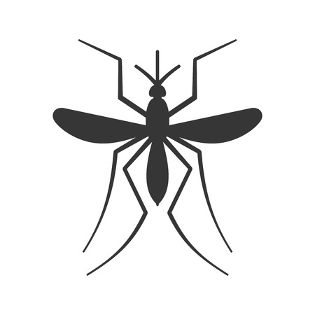 Mosquito Icon on White Background. Vector