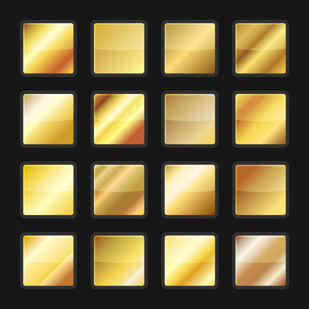 Gold Gradient Background Textures Set. Vector illustration