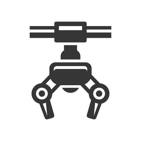 Robotic Claw Machine Icon. Vector