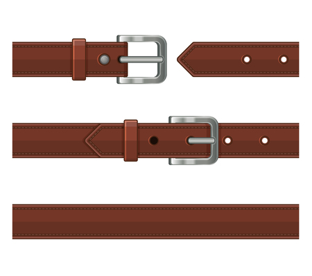 Leather belts illustration.