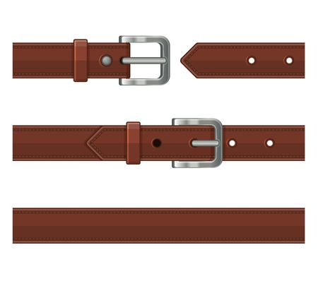 Leather belts illustration.