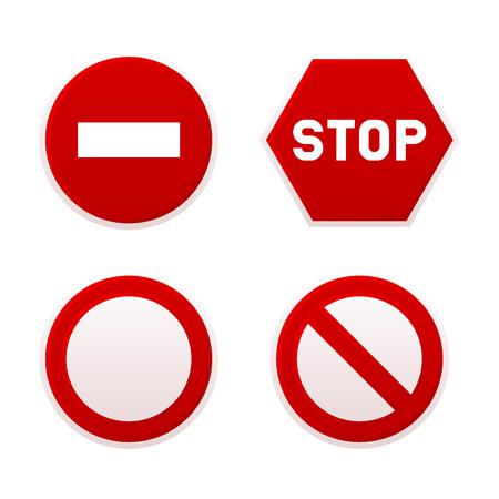 Stop Sign Set. Vecteur.