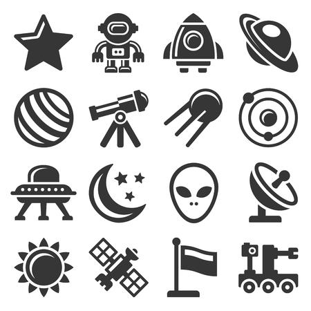 Icone dello spazio impostate Vettoriali