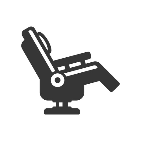 Massage Chair Icon on White Background. Vector Illustration