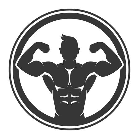 Bodybuilder icon.