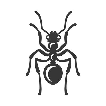 Ant Icon on White Background. Vector Vettoriali