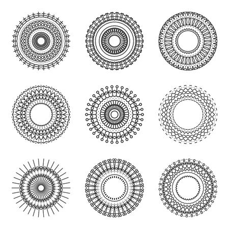 Geometry Circle Ethnic Style Pattern