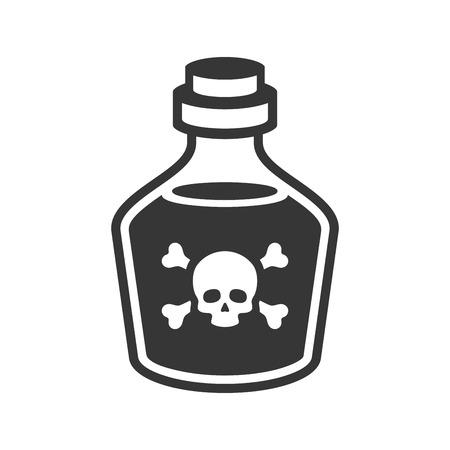 Glas Gift Flasche Symbol auf weißem Hintergrund . Vektor