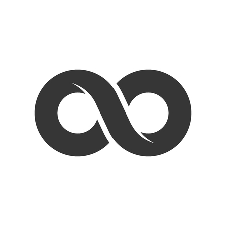 Infinity Sign Icon on White Background. Vector