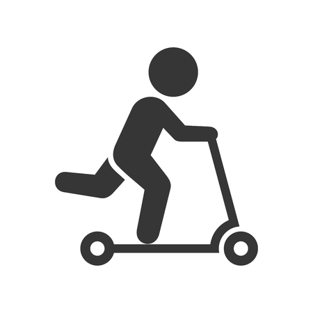 Man on Kick Scooter Icon
