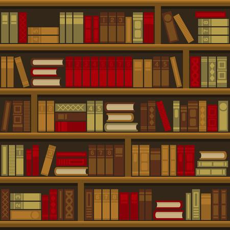 Fondo transparente del estante del libro de la biblioteca. Ilustración vectorial Ilustración de vector