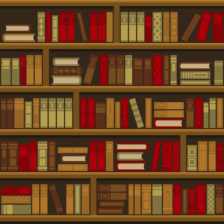 Bibliothèque livre étagère fond transparent. Illustration vectorielle