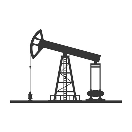 Oil Pump Icon on White Background. Vector illustration Illustration
