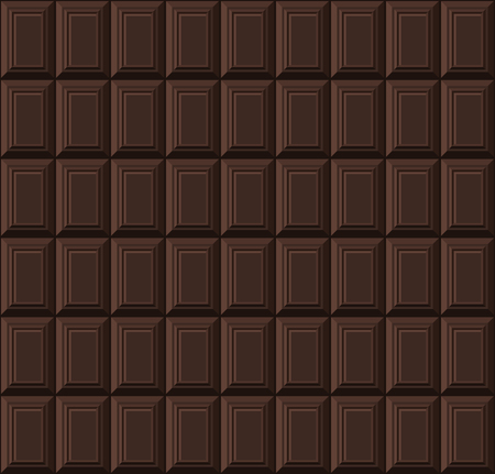 Black Chocolate Bar Seamless Background Pattern. Vector illustration