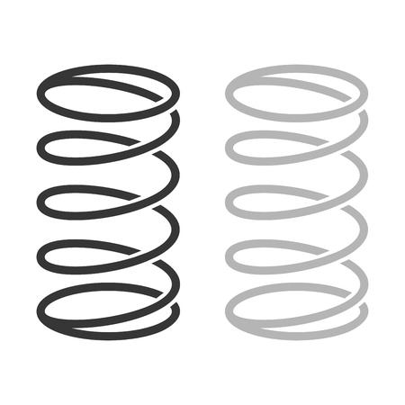 Ensemble de ressorts de matelas sur fond blanc. Illustration vectorielle