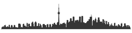 Toronto City Skyline Skyscraper Buildings Background. Vector Illustration