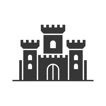 Castle Tower Icon on White Background. Vector