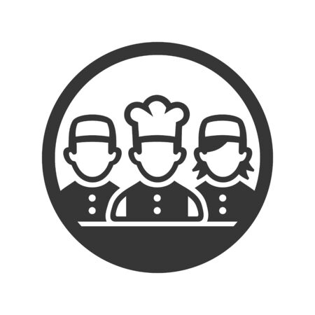 Chef Cook Icon on White Background. Vector