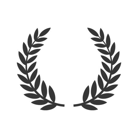 Circular Laurel Foliate Icon. Film Festival Award. Vector