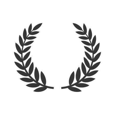 Kreisförmiges Lorbeerblatt-Symbol. Preis des Filmfestivals. Vektor Vektorgrafik