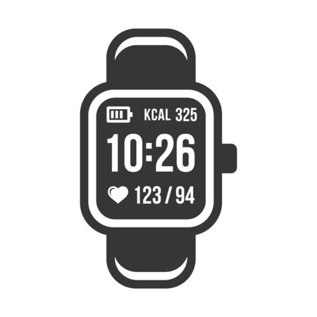Smart Watch and Fitness Tracker Band Icons Set. Vector