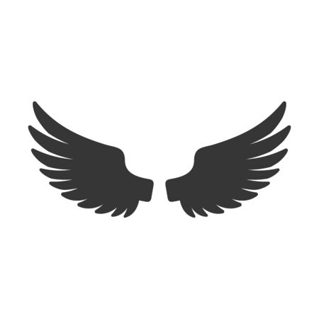 Wing Icon. Bird Logo on White Background. Vector