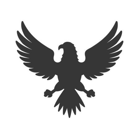 Eagle Icon. Bird Logo on White Background. Vector