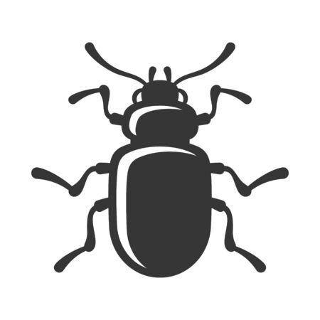 Beetle Insect Icon on White Background. Vector