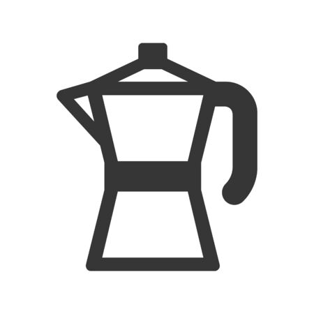 Geyser Coffee Maker Pot Icon on White Background. Vector