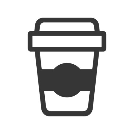 Coffee Cup Icon on White Background. Vector Illusztráció