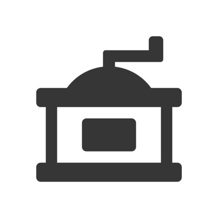 Coffee Grinder Mill Icon on White Background. Vector
