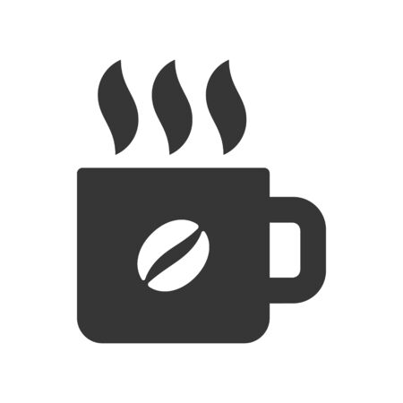 Coffee Cup Icon on White Background. Vector Фото со стока - 130121754