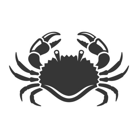 Sea Crab Icon on White Background. Vector