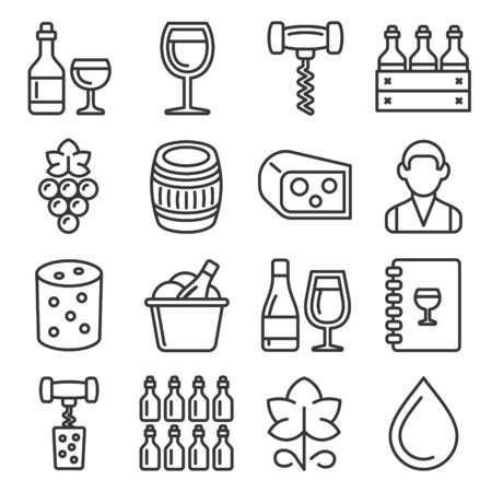 Honey Icons Set on White Background. Line Style Vector Banque d'images - 137676097