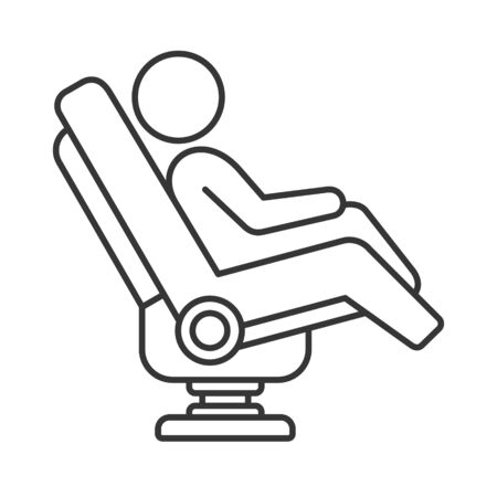 Massage Chair Icon on White Background. Line Style Vector illustration