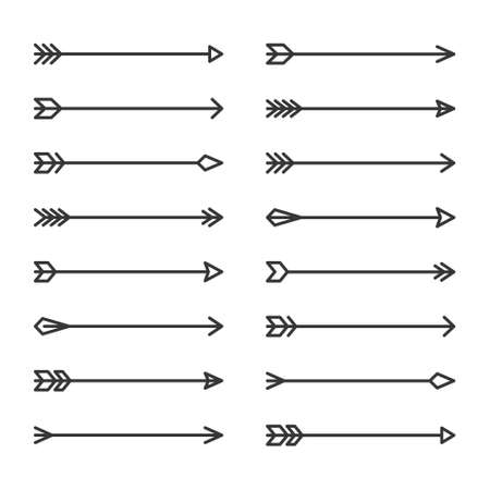 Hipster Arrows Set on White Background. Vector