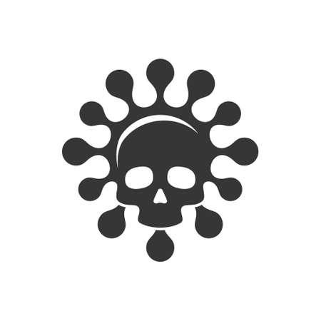 Coronavirus Warning Sign in a triangle. Virus Concept Icon. Vector 矢量图像