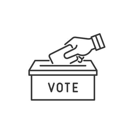 Political Election and Vote Icons Set. Vector