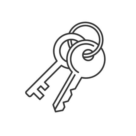 Keys Icon on White Background. Line Style Vector