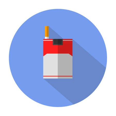 humo: icono plana cigarrillo con una larga sombra