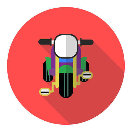 Kid tricycle icon flat design with long shadow Vector