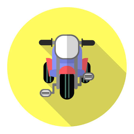 driewieler: Kid driewieler icoon platte ontwerp met lange schaduw Stock Illustratie