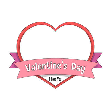 heart valentine day message, vector illustration Vector