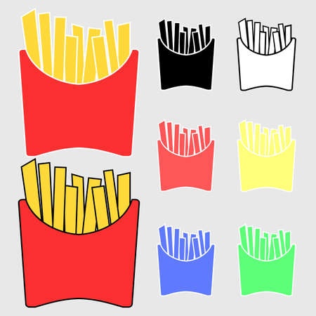 deep fried: Different Colored French Fries icon
