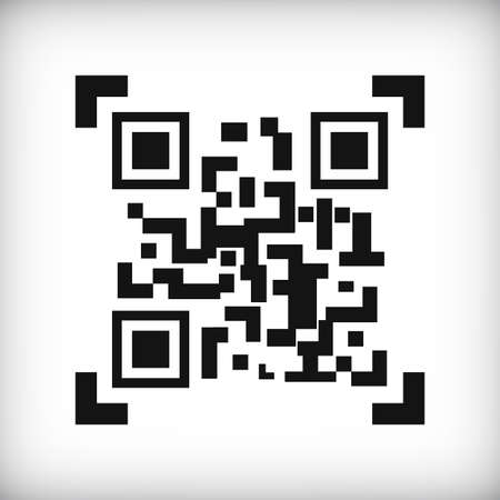 qrcode: Qr Code icon on a white background