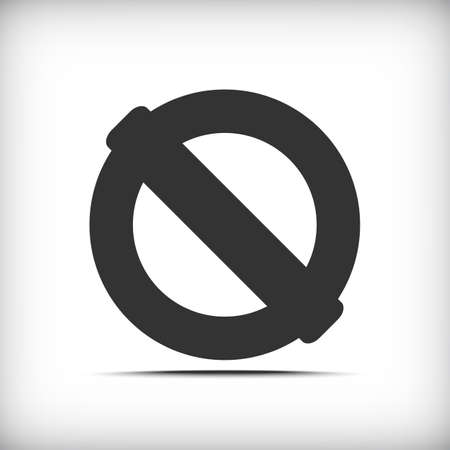 illegal zone: Prohibition sign icon with soft shadow - Vector EPS10.